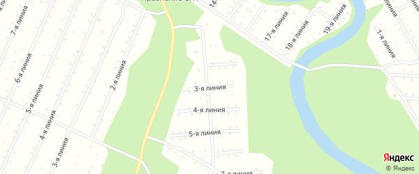 Улица 3-я Линия на карте населенного пункта СНТ Радуги с номерами домов