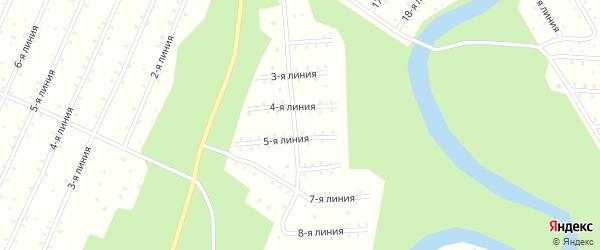 Улица 1-я Линия на карте населенного пункта СНТ Радуги с номерами домов