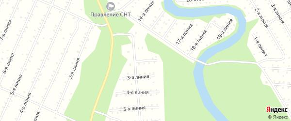 Улица 2-я Линия на карте населенного пункта СНТ Радуги с номерами домов