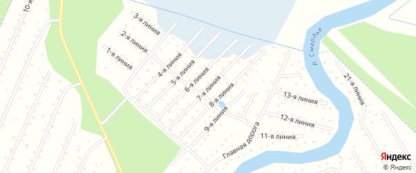 Улица 7-я Линия на карте населенного пункта СТ Дружбы с номерами домов