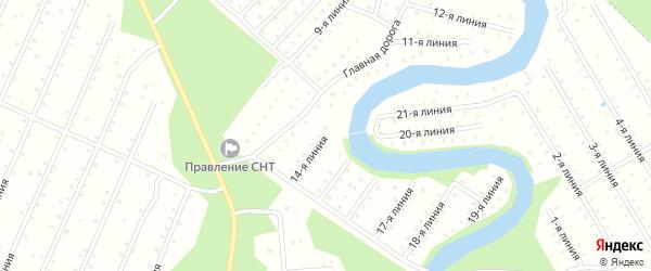 Улица 14-я Линия на карте населенного пункта СТ Дружбы с номерами домов