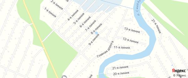 Улица 9-я Линия на карте населенного пункта СТ Дружбы с номерами домов