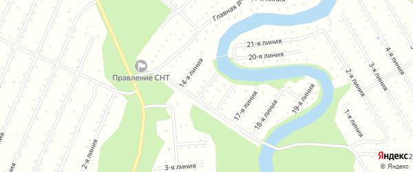Улица 15-я Линия на карте населенного пункта СТ Дружбы с номерами домов