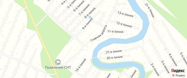 Улица Главная дорога на карте населенного пункта СТ Дружбы с номерами домов