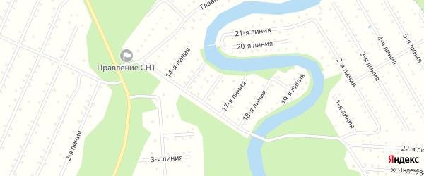 Улица 16-я Линия на карте населенного пункта СТ Дружбы с номерами домов