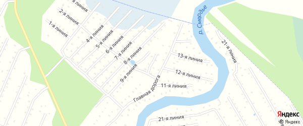 Улица 10-я Линия на карте населенного пункта СТ Дружбы с номерами домов