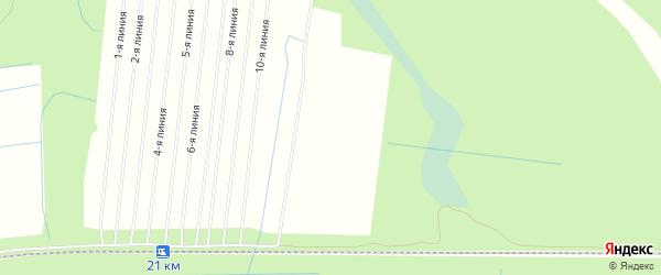 СНТ УЕМЛЯНОЧКА-2 на карте Приморского района с номерами домов