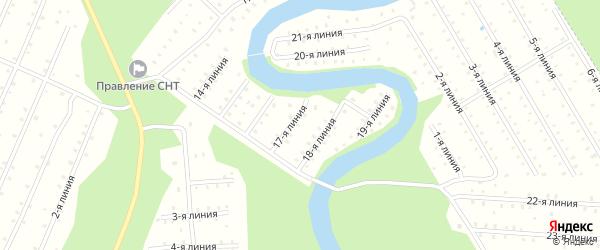 Улица 6-я Линия на карте населенного пункта СТ Дружбы с номерами домов