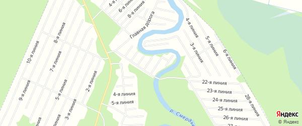 Карта населенного пункта СТ Дружбы города Новодвинска в Архангельской области с улицами и номерами домов