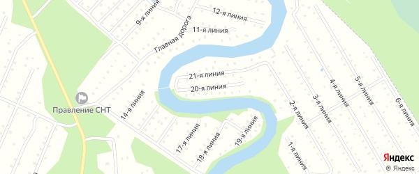 Улица 20-я Линия на карте населенного пункта СТ Дружбы с номерами домов