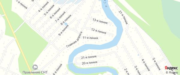 Улица 11-я Линия на карте населенного пункта СТ Дружбы с номерами домов