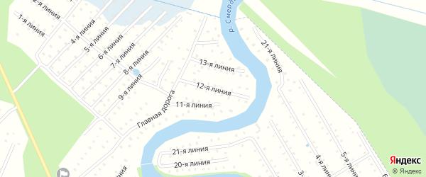 Улица 12-я Линия на карте населенного пункта СТ Дружбы с номерами домов