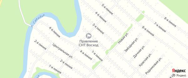 Улица 2-я Линия на карте населенного пункта СНТ Восхода с номерами домов
