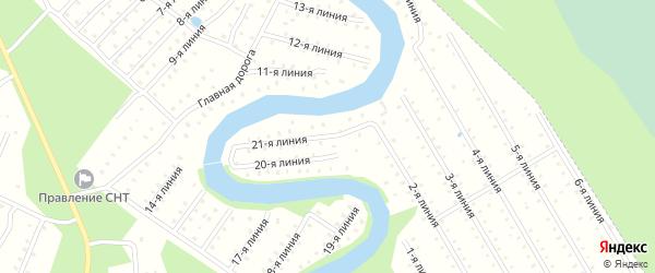 Улица 21-я Линия на карте населенного пункта СТ Дружбы с номерами домов