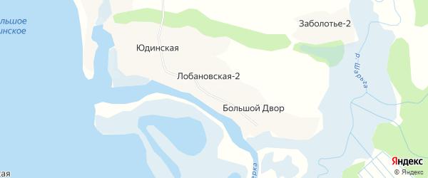 Карта деревни Лобановской-2 в Архангельской области с улицами и номерами домов