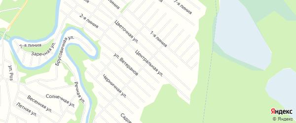 Карта населенного пункта СНТ Маяка города Новодвинска в Архангельской области с улицами и номерами домов