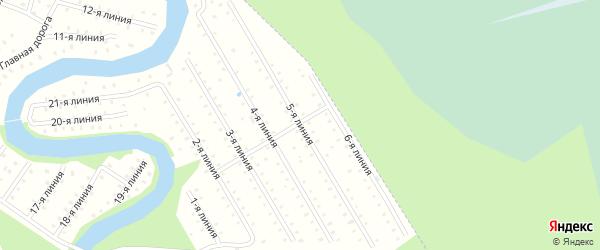 Улица 5-я Линия на карте населенного пункта СНТ Березки с номерами домов