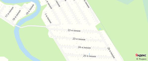 Улица 22-я Линия на карте населенного пункта СТ Дружбы с номерами домов