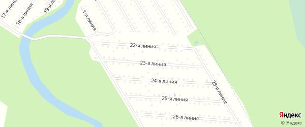 Улица 23-я Линия на карте населенного пункта СТ Дружбы с номерами домов