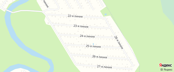 Улица 24-я Линия на карте населенного пункта СТ Дружбы с номерами домов