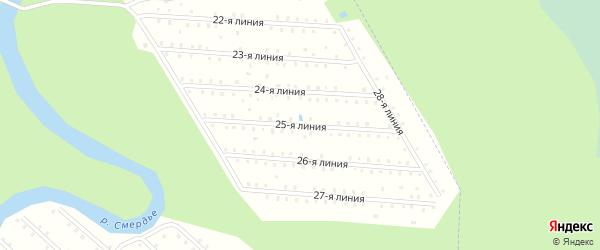 Улица 25-я Линия на карте населенного пункта СТ Дружбы с номерами домов