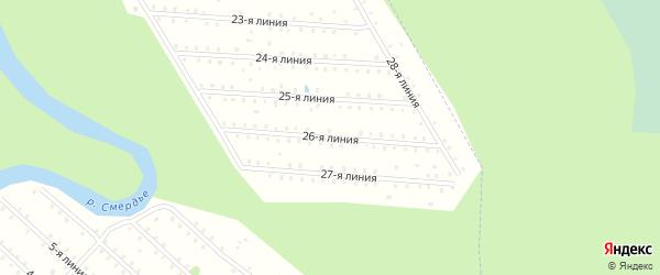 Улица 26-я Линия на карте населенного пункта СТ Дружбы с номерами домов