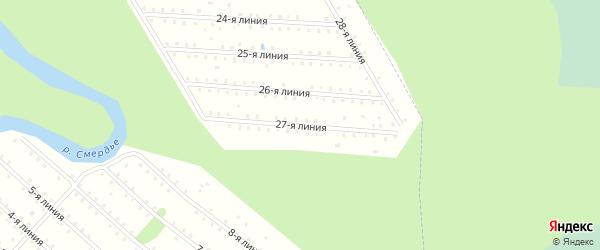 Улица 27-я Линия на карте населенного пункта СТ Дружбы с номерами домов