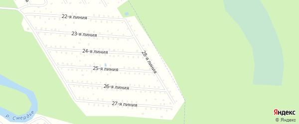 Улица 28-я Линия на карте населенного пункта СТ Дружбы с номерами домов