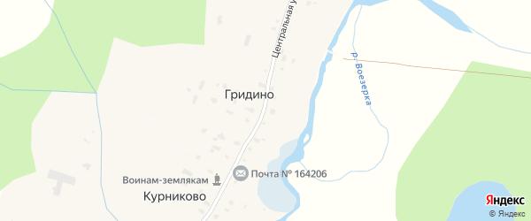 Центральная улица на карте деревни Низа (Канакши) с номерами домов