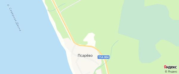 Карта садового некоммерческого товарищества Лесной поляны в Архангельской области с улицами и номерами домов