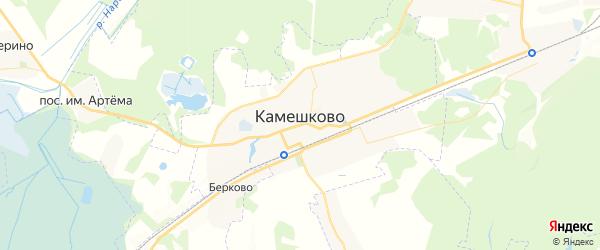 Карта Камешково с районами, улицами и номерами домов: Камешково на карте России