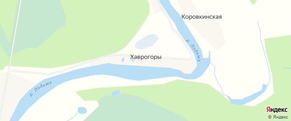 Карта деревни Хаврогор в Архангельской области с улицами и номерами домов