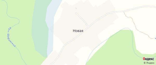 Лесная улица на карте поселка Новой с номерами домов