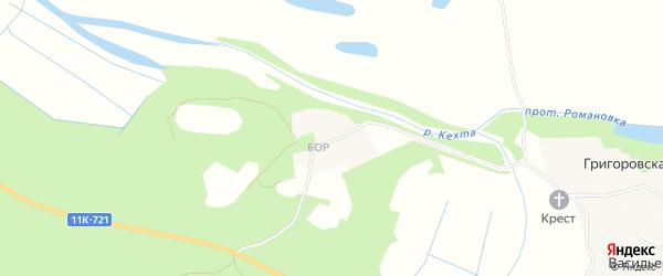 Карта Григоровской деревни в Архангельской области с улицами и номерами домов