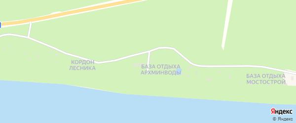 Улица База отдыха Архминводы на карте поселка Боброво с номерами домов