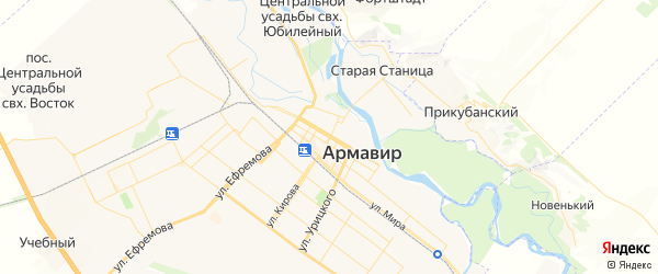 Карта Армавира с районами, улицами и номерами домов: Армавир на карте России