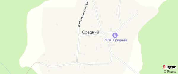 Лесная улица на карте Среднего поселка с номерами домов