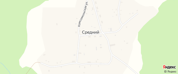 Улица Гагарина на карте Среднего поселка с номерами домов