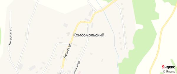 Привокзальная улица на карте Комсомольского поселка с номерами домов