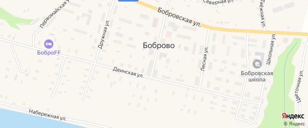 Улица Неманова на карте поселка Боброво с номерами домов