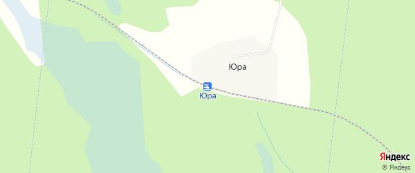 Карта железнодорожной станции Юры в Архангельской области с улицами и номерами домов