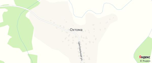 Центральная улица на карте деревни Охтомы с номерами домов