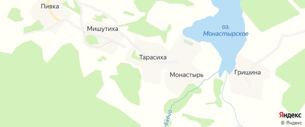 Карта деревни Тарасихи в Архангельской области с улицами и номерами домов