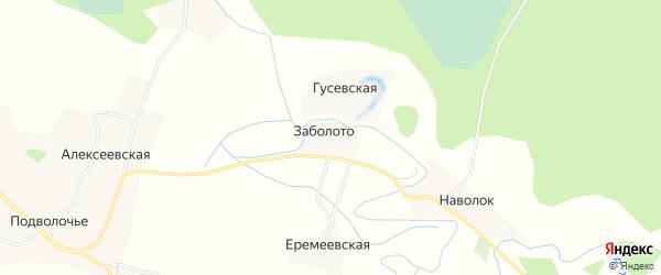 Карта деревни Заболота в Архангельской области с улицами и номерами домов