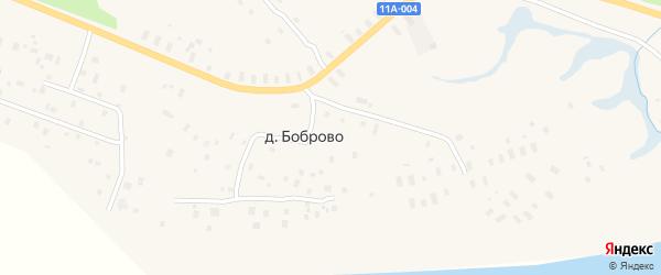Улица Геологов на карте деревни Боброво с номерами домов