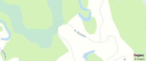 Карта поселка Лодьмы в Архангельской области с улицами и номерами домов