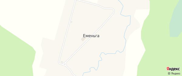 Набережная улица на карте поселка Еменьги с номерами домов