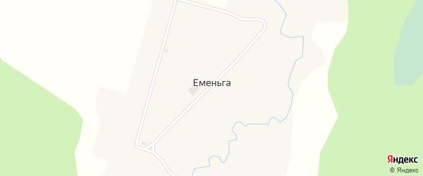 Советская улица на карте поселка Еменьги с номерами домов