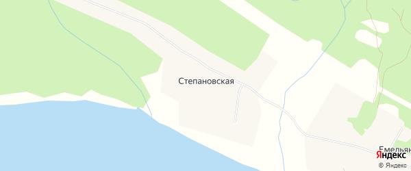 Карта Степановская деревни в Архангельской области с улицами и номерами домов