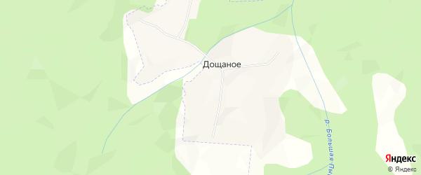 Карта поселка Дощаного в Архангельской области с улицами и номерами домов